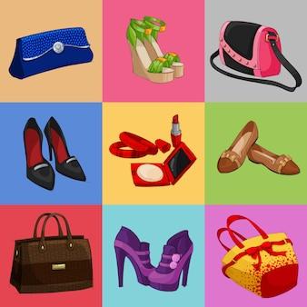 Женская коллекция сумок, обуви и аксессуаров