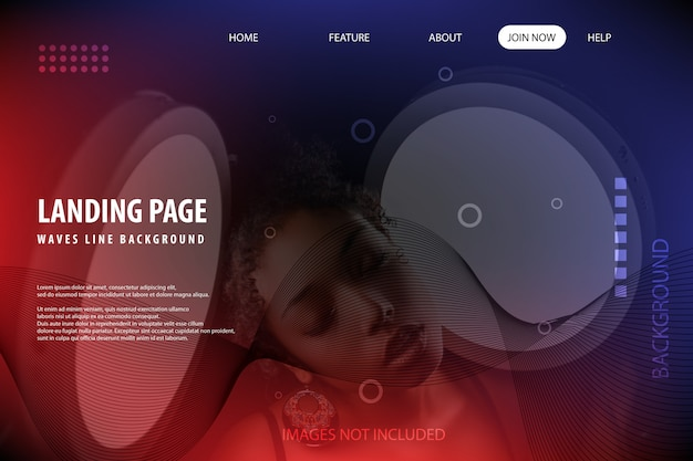 Women beautiful landing page