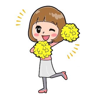 アウトラインピンク服women_cheer-wink