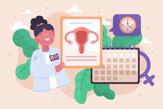医者と女性更年期概念