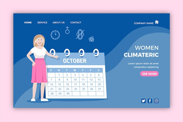 Women climacteric landing page style
