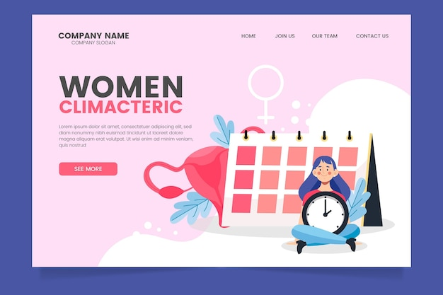 Women climacteric - landing page