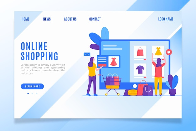 Women clothes online shopping landing page