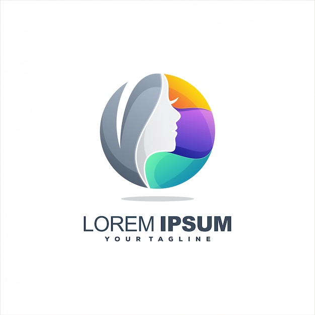 Women colorful logo template