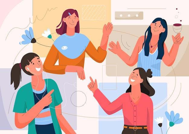 여성은 화상 통화로 의사 소통