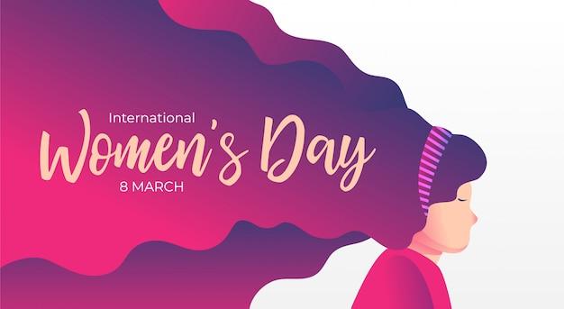 Women day background banner illustration