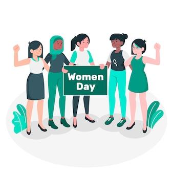 Women day concept illustration