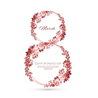 Women day frame flowers