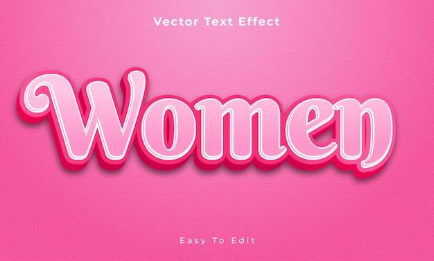 Редактируемый текстовый эффект 3d для женщин премиум векторы