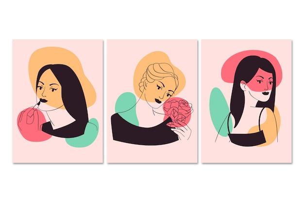Women in elegant line art style