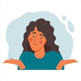 여자 감정적 초상화