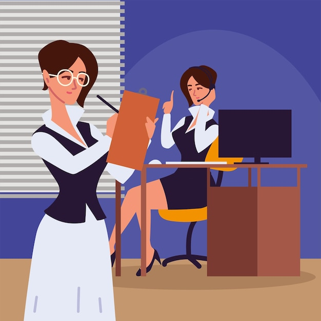 여성 직원 개인 비서