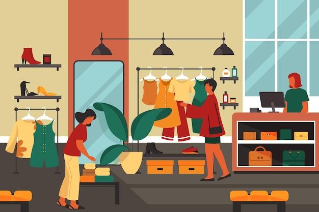 Женщины любят делать покупки в торговом центре баннер или фон