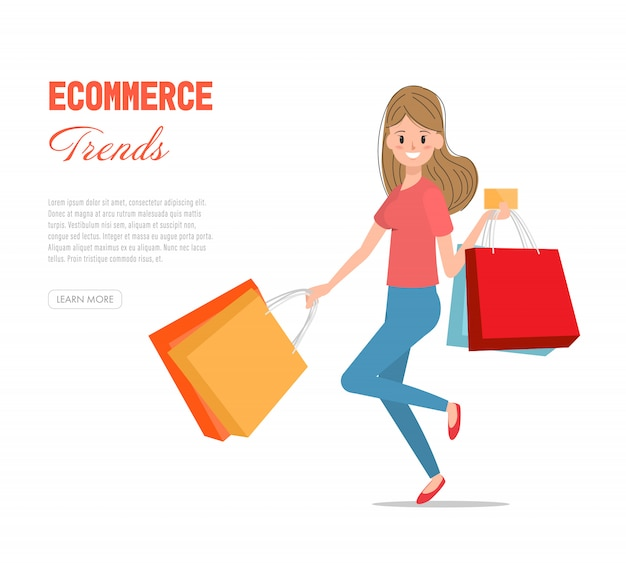 Women enjoying to shopping with credit card.