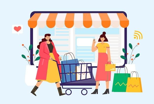 온라인 쇼핑의 편리함을 즐기는 여성