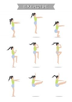Women exercising set