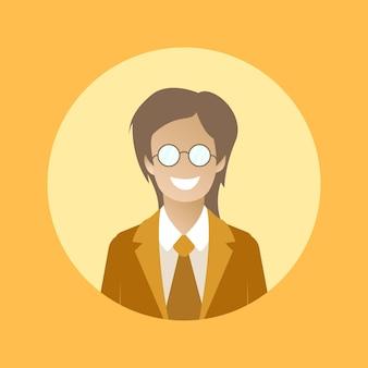 Women eyeglass icon character