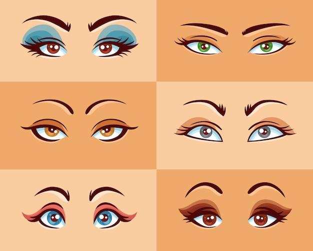 Women eyes set