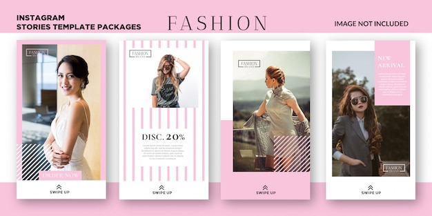 Women fashion instagram stories template packages