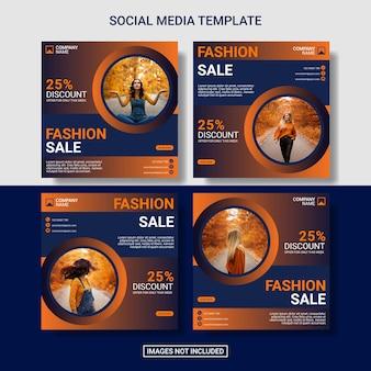Women fashion sale instagram post collection