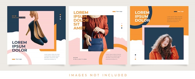 Women fashion social media template