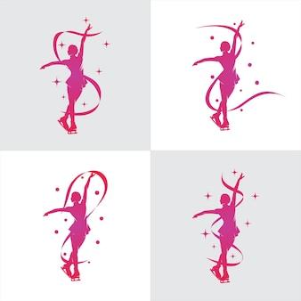 Логотип женского фигурного катания