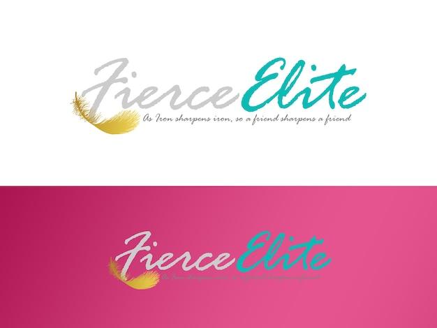 Women fitness business logo