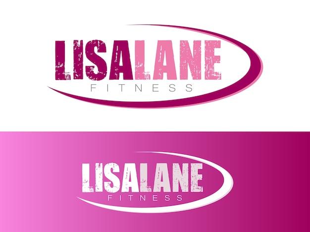 Women fitness coach logo
