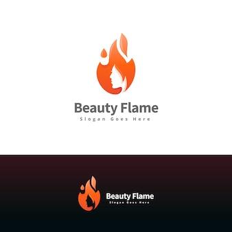 Women and flame modern logo