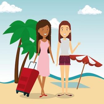 Women friendly in the beach