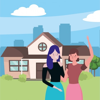 Women friends vector  vector illustration