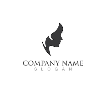 Women hair style logo vector