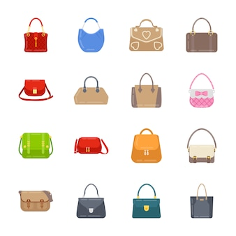 Women handbag icons pack