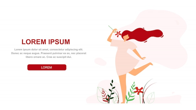 Women happy lifestyle vector web banner template