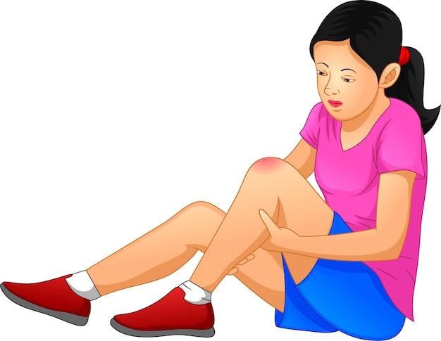 Women has pain in his knee