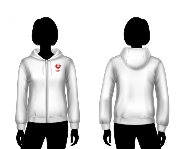 Women hooded sweatshirt template