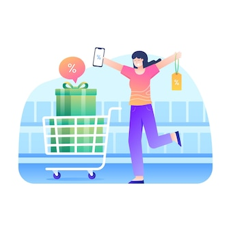 女性は割引クーポンで買い物をするのが大好きです