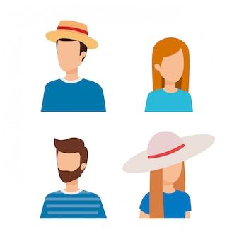 Women and men avatar design