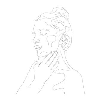 Женщины минимальная рисованная иллюстрация рисование в стиле одной линии