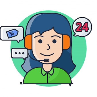 Women people customer service