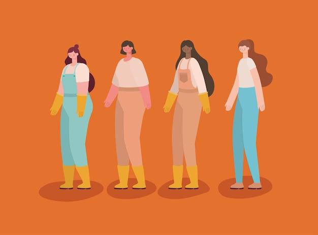 Набор женщин плантаторы
