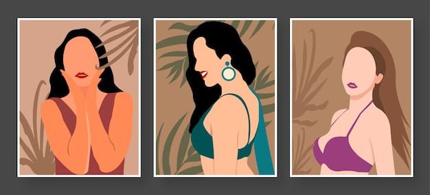 Women pose illustration