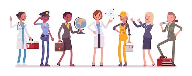 Набор женских профессий