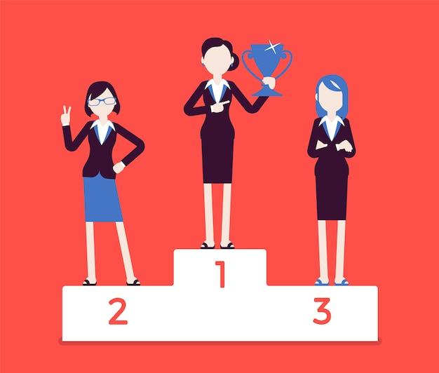 Women put on pedestal of honor