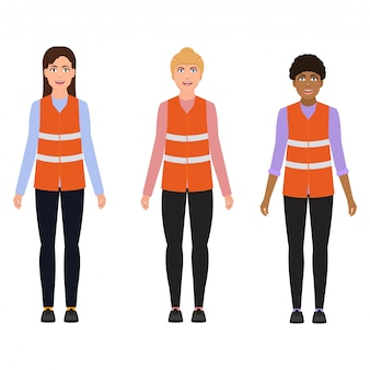 Women in reflective vests