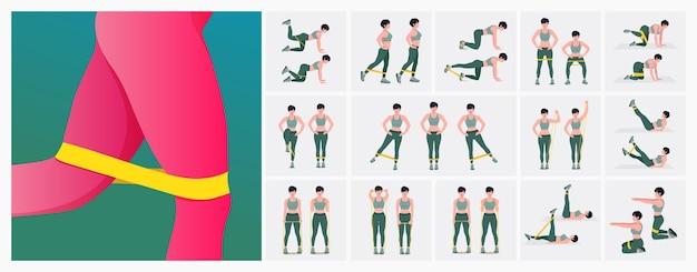 Набор упражнений для женщин с сопротивлением