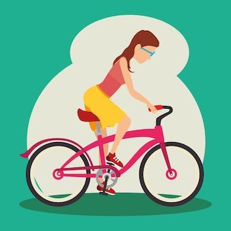 Women riden a bike