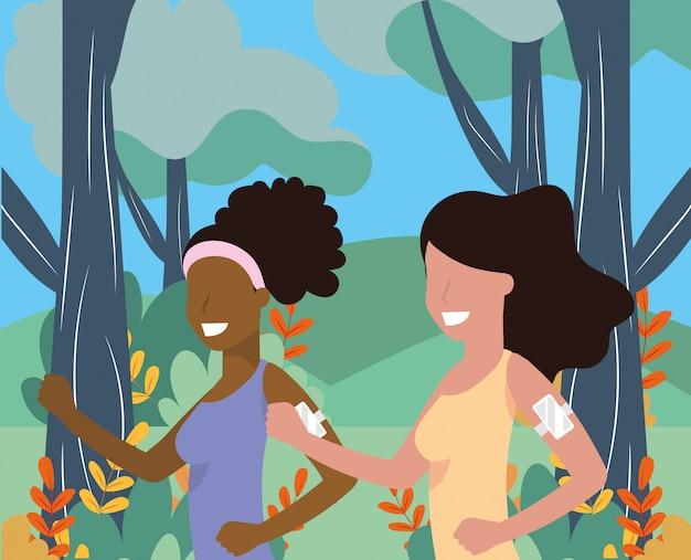 Women running portrait