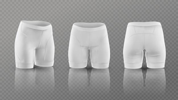 Women's cycling shorts. Premium Vector
