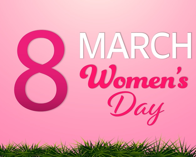 Women's day 8 march pink background.